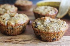 Grain-free, dairy-free, paleo-friendly chocolate chip banana muffins. I made these this morning and really liked them! I doubled the recipe so I could have 12 muffins and I'm glad I did!