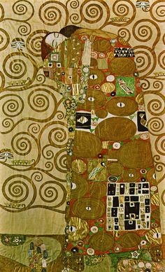 Fulfillment (The Embrace) /Gustav Klimt                                                                                                                                                                                 More