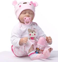 77.91$  Watch now - http://ali4rk.worldwells.pw/go.php?t=32641405065 - 22 Inch Realistic  baby doll reborn for sale/ Silicone Alive Baby Dolls sleeping toys for girls gift 77.91$