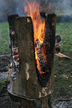 Kaspar Hamacher feu a brûlé art de créer des meubles sculpture