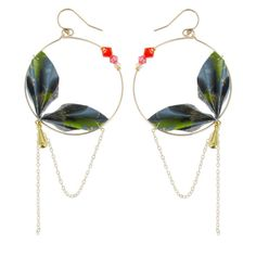 Boucles d'oreilles Jungle Origami