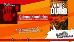 """Defensa del sistema biométrico en Venezuela para controlar el desabastecimiento.  """"Los Patriotas decimos de corazón #NOSoyMafiaPongoMiHuella, allá los que se oponen por dudar de un sistema novedoso."""" @Yvanjosebello (Agosto 29, 2014)"""