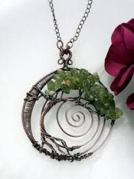 Image result for wire wrap earrings to match tree of life pendant