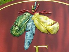 Three Feather Ranch Sign Detail / Danthonia