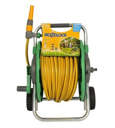 Hozelock 60m Mobile Cart With 30m Gardening Multipurpose Hose