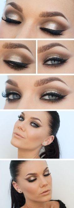 Generalmente se recomienda a la novia un maquillaje natural, pero si quieres algo más impactante puedes maquillarte así.