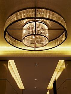 Millfield in bronze finish, flush mounted High Ceiling Lighting, Ceiling Chandelier, Pendant Chandelier, Cool Lighting, Modern Lighting, Lighting Design, Pendant Lighting, Ceiling Lights, Crystal Chandeliers