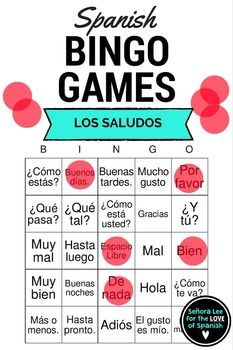 52 best spanish greetings activities los saludos images on 30 bingo cards printed 2 per page to practice 24 spanish greetings and m4hsunfo