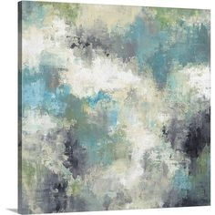 """Canvas On Demand 'Cloud Layers' by Liz Jardine Painting Print on Canvas Size: 24"""" H x 24"""" W x 1.25"""" D"""