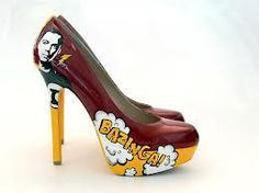 Bazinga shoes (in Redskins colors!)