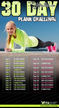 30-Day Plank Challenge. 3 variations.