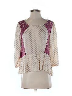 Free People Women 3/4 Sleeve Blouse Size S