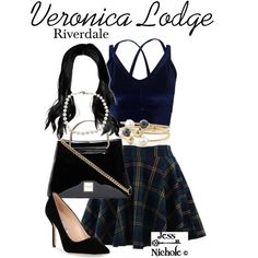 "Outfit inspired by Veronica Lodge from the MTV series ""Riverdale"". Veronica Lodge Fashion, Veronica Lodge Outfits, Veronica Lodge Style, Veronica Lodge Aesthetic, Teen Fashion Outfits, Girl Outfits, Cute Outfits, Riverdale Halloween Costumes, Veronica Lodge Riverdale"