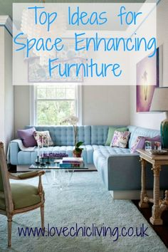 How to make the best of small spaces with these great furniture ideas. Great top tips on what to buy for small rooms!