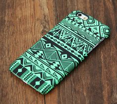 Green And Black Tribal Pattern iPhone 6 Plus 6 5S 5C 5 4 Protective Case – Acyc