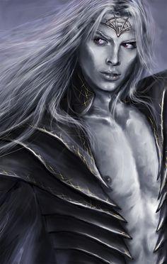 Drow-portrait by Kaprriss.deviantart.com on @DeviantArt