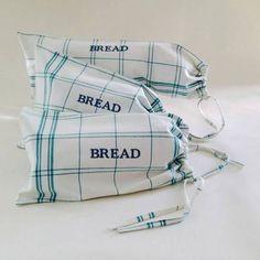 Blue Plaid Bread Bag