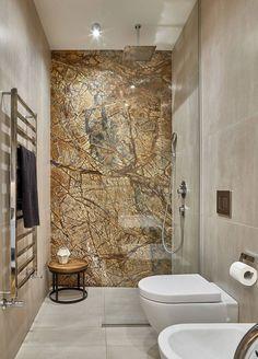 Кожаная мебель и кирпичная стена: стильная квартира в Москве | Пуфик - блог о дизайне интерьера