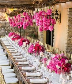 WE THINK THIS PRETTY PINK FLOWER ARRANGEMENT is all the wedding inspiration you need to get you through the long weekend of dreaming {and scheming} about your wedding! Idesigned this long pink and gold dinner table for an event at a super chic and extremely exclusive private club here in Los Cabos. The tablescape included …