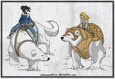 Unknownstain (The Legend of Korra / His Dark Materials)// oh my gosh, someone did a thing ^_^ Iorek Byrnison, His Dark Materials Trilogy, Avatar Ang, Gellert Grindelwald, The Golden Compass, Fan Art, Animal Sketches, Avatar The Last Airbender, Anime Comics