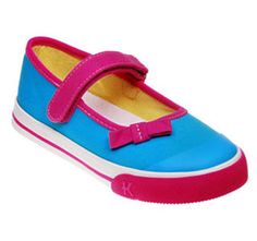 """Cute """"Sneakers"""" for the girly girl... Kai Sneaker Portia Blue  from seekairun.com - cool baby shoes, toddler shoes, kids shoes and baby booties."""