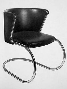Designer: Lilly Reich Thonet  Date: 1936 Medium: Metal and Leathern  Category: Bauhaus Furniture/ Furnishings  Something Interesting: The curve of the chair makes this bauhaus.