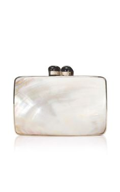 Shop Pacquiao+Minaudière+in+White+Mother-of-Pearl+by+Celestina+-+Moda+Operandi PRECIOSA!
