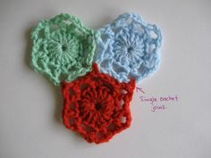 Very easy method to join crochet motifs together as you go