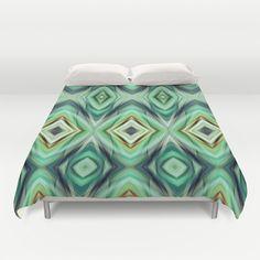 Pattern green  Duvet Cover by Christine baessler - $99.00