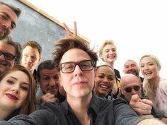 Guardians of the Galaxy Vol. 2 (2017) selfie | From L to R - Sean Gunn (Kraglin), Kurt Russell (Ego), Karen Gillan (Nebula), Chris Pratt (Peter Quill), Sylvester Stallone (*spoiler*), me, Zoe Saldana (Gamora), Elizabeth Debicki (Ayesha), Michael Rooker (Yondu Udonta), Dave Bautista (Batista) (Drax) and Pom Klementieff (Mantis)