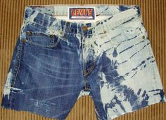 Acid wash Distressed Ripped LEVI Jean shorts by Forever peace