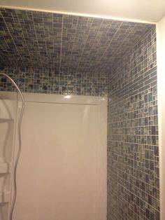 Shower install with tile Tile, Bathtub, Shower, Bathroom, Design, Standing Bath, Rain Shower Heads, Washroom, Mosaics