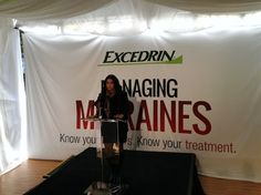 Jordin Sparks addressed the media and talked about her experience as a migraine sufferer. #DRExcedrin