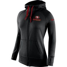 d6eb297ad6d Nike San Francisco 49ers Womens Black Warpspeed All Time Full-Zip Hoodie  Best Football Team