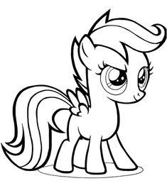 Gambar Mewarnai Untuk Anak Perempuan My Little Pony Pictures My