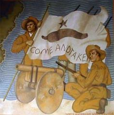9f66f2cb8429 177 years ago today - if I did my math right - Oct. the Battle of Gonzales  was fought. It was a small battle