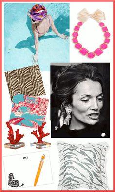 Inspiration: Nina Nolte, Kate Spade, Lee Radziwill, Quadrille, D. Porthault