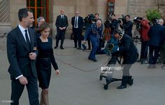 King Felipe VI of Spain and Queen Letizia of Spain are seen leaving the funeral services for Germanwings Flight 9525 held at the Sagrada Familia on April 27, 2015 in Barcelona, Spain. Germanwings Flight 9525 crashed in the French alps killing all 150 aboard on March 24, 2015.