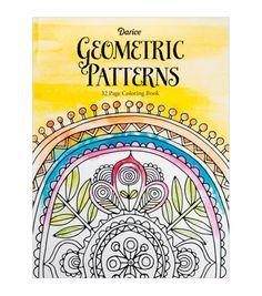Darice Coloring Book-Geometric | Adult Coloring Book