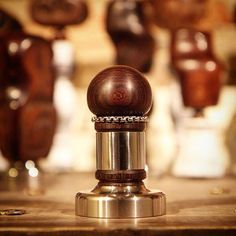 in my exhibition@secawannsuch #coffee #tamper #antique #rosewood ...
