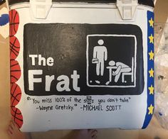 Fraternity Formal, Fraternity Coolers, Frat Coolers, Sorority Canvas, Sorority Paddles, Sorority Crafts, Sorority Recruitment, Ato Cooler, Formal Cooler Ideas