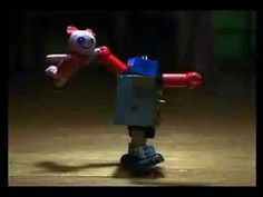 love the robot stop motion animation here