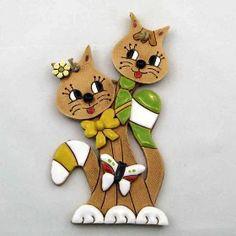 Duo kočky na zeď 20 cm