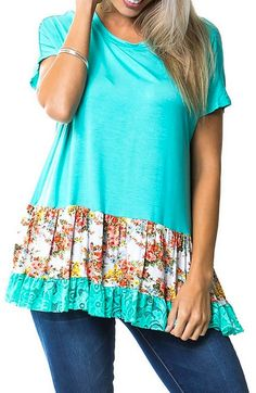 Floral Country Lace Top $23.99