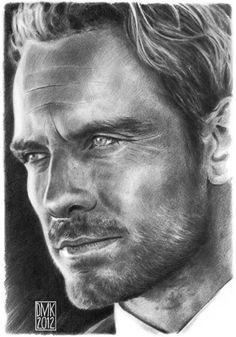 Michael Fassbender portrait by dmkozicka.deviantart.com on @deviantART