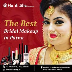 Best bridal makeup in Patna: Bridal beauty parlour Patna - SC Classifieds Best Bridal Makeup, Bridal Beauty, Face Care, Body Care, Finding A New Job, Hair Spa, Spa Services, Parlour, Girls Dream