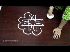 Easy rangoli designs with 7 to 4 Dots - simple kolam - muggulu designs with dots Simple Flower Design, Simple Flowers, Flower Designs, Small Rangoli, Rangoli With Dots, Rangoli Ideas, Easy Rangoli, Marketing Merchandise, Padi Kolam