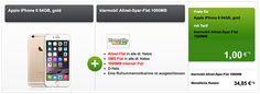 1GB Klarmobil Allnet Spar Flat für 34,85€ mit iPhone 6 (64GB) oder Galaxy S6 für 1€ http://www.simdealz.de/vodafone/klarmobil-allnet-spar-flat-1000mb-mit-bundle/
