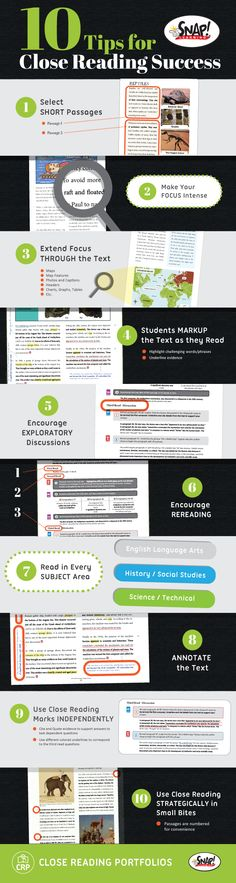 Tips for Close Reading Success! www.snaplearning.co/close_reading