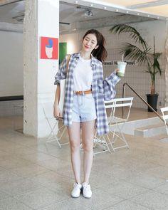 How to wear shorts over 30 30 day 29 ideas # korean Outfits How to wear shorts over 30 30 day 29 ideas Korean Fashion Ulzzang, Korean Fashion Casual, Korean Girl Fashion, Korean Fashion Trends, Korea Fashion, Korean Outfits, Kpop Fashion, Trendy Fashion, Fashion Outfits